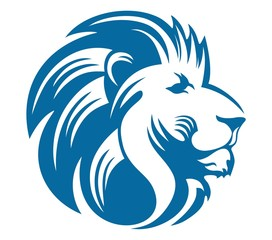 lion head blue
