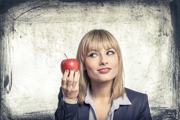 Zum Mittag gibts heut Apfel