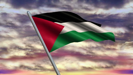 Palestinian Flag Animation