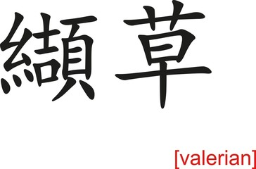 Chinese Sign for valerian