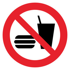 Prohibition sign  NO EATING