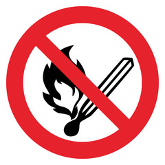 Prohibition sign NO FIRE
