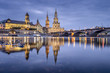 Dresden, Germany cityscape on the Elbe River