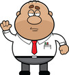 Cartoon Male Office Worker Frowning