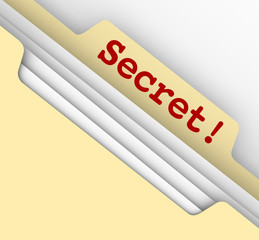 Secret Word Manila Envelope Classified Files Confidential Inform