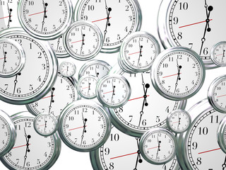 Clocks Time Passing Marching On Future Progress Moving Forward