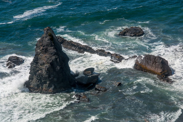 Jagged Rocks on the Oregon Coastline