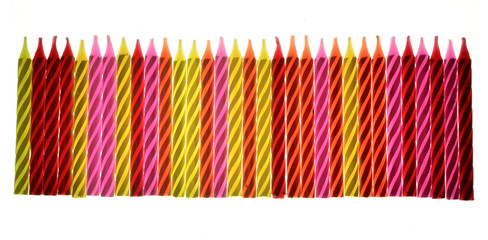 Colored birthday candles