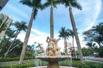european style fountain