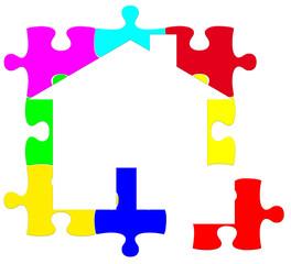 maison logo puzzle