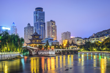 Guiyang, China on Nanming River