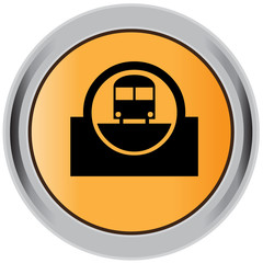 Subway button, icon, badge