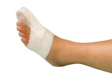 Big toe injury. Splint support for  big toe injury