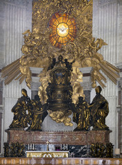 Chair of St. Peter, venerated as the throne of St. Peter (Bernin