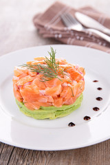salmon and avocado