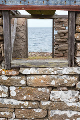 Sea view towars a window
