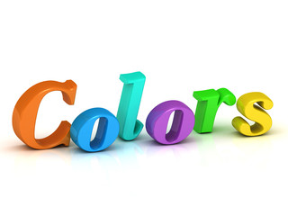 colors 3d inscription bright volume letter