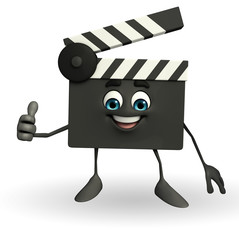 Clapper Board Character with best sign