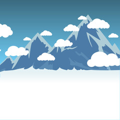 Vector of mountain background