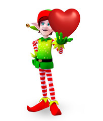 Elves character with heart