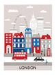 Leinwanddruck Bild - London city.