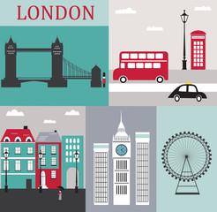 Symbols of London.Vector