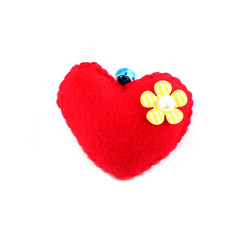 Romantic of artificial vintage red heart.