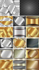 Set of abstract metal background 2