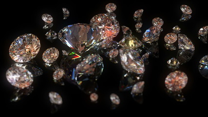 4K Diamond background, beautiful 3d animation. seamless loop