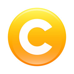 bouton internet copyright icon orange web