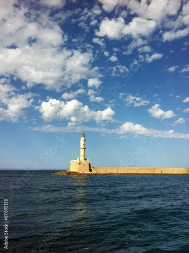 canvas print picture Leuchtturm Chania Kreta