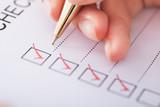 Businesswoman Writing On Checklist - 67695305