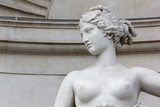Close-up of the Statue of Venus on the Lloyd Palace in Trieste