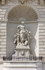 Statue of Tethys on the Facade of the Lloyd Palace in Trieste