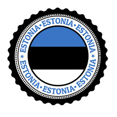 Estonia stamp or label