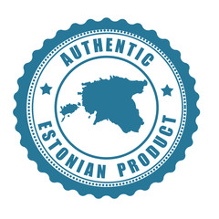 Authentic Estonian product stamp or label