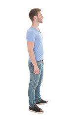Young Man Standing Isolated On White Background