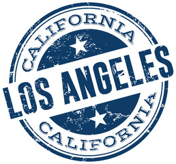 los angeles stamp