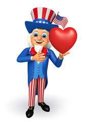 Uncle Sam with heart