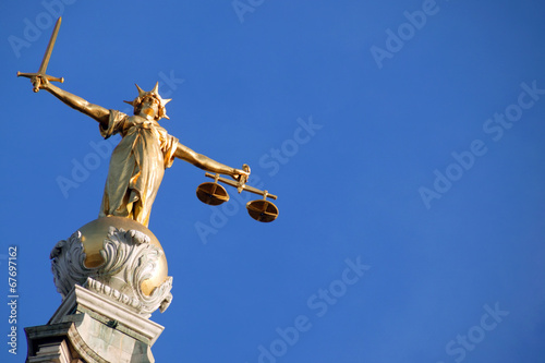 Foto op Canvas Standbeeld Scales of Justice ( Lady of Justice)