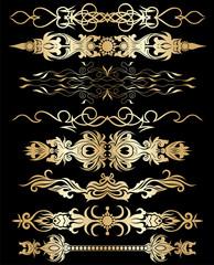 Gold  divider set