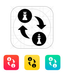 Chess castling icon.