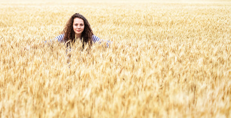 Girl in wheat