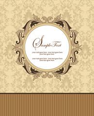 ELEGANT VINTAGE DAMASK INVITATION CARD