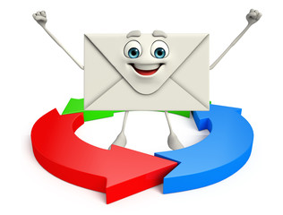 Mail Character with arrow