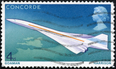 supersonic Concorde aircraft stamp