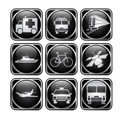 иконки модерн черные транспорт