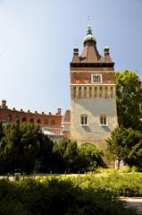Una torre del Castello Vajdahunyad, Budapest.