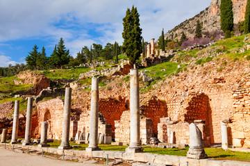 Ruined building in Delphi