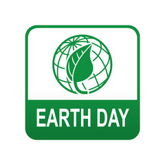 Etiqueta tipo app verde EARTH DAY